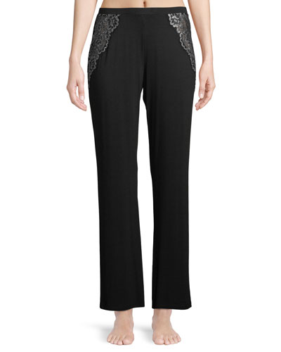 Pret-a-Porter Lace-Trim Lounge Pants