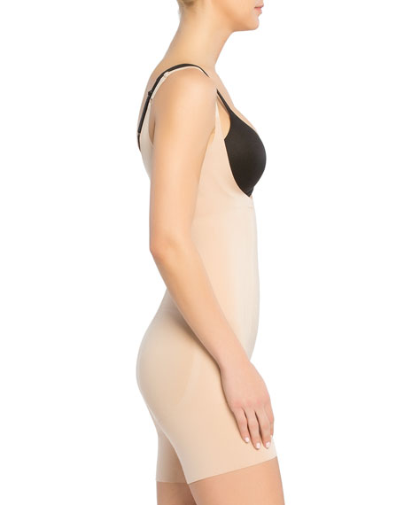 Oncore Open-Bust Mid-Thigh Bodysuit Shaper