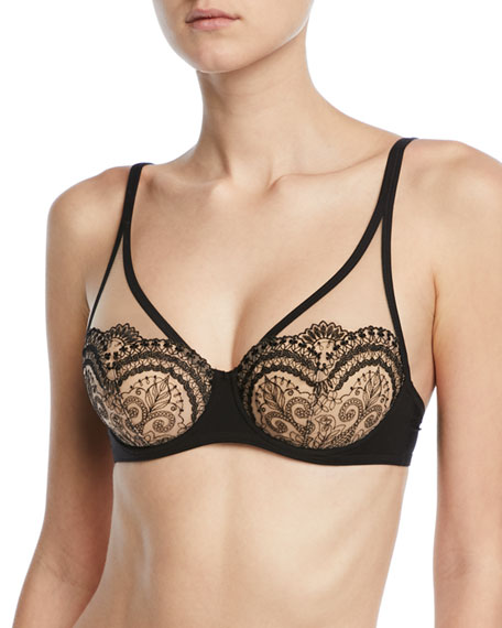 TATTOO FULL-CUP LACE BRA