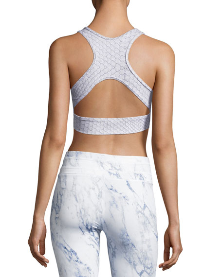 Brooks Sports Bra, White Pattern