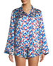 Morgan Lane Ruthie Painted Tulip Silk Pajama Top