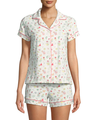 Margaritas Shortie Pajama Set