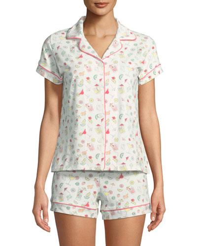 Margaritas Shortie Pajama Set