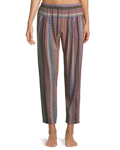 Paige Graphic-Print Lounge Pants