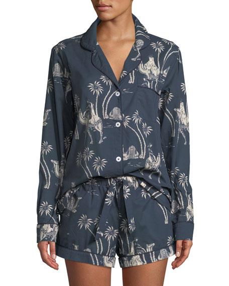 Camel Cotton Classic Short Pajama Set