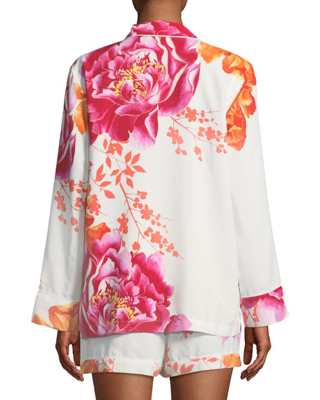 Bali Floral-Print Shorty Pajama Set