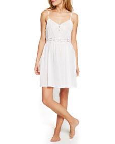Short Lace Inset Nightgown by Pour Les Femmes