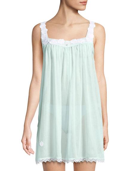 Gesine Lace-Trim Cotton Chemise