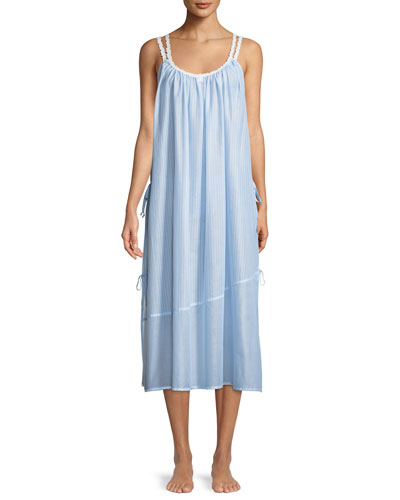Riviera Double-Strap Sleeveless Nightgown