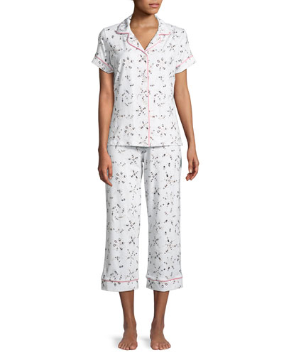 Synchronized Swimmers Cropped Pajama Set