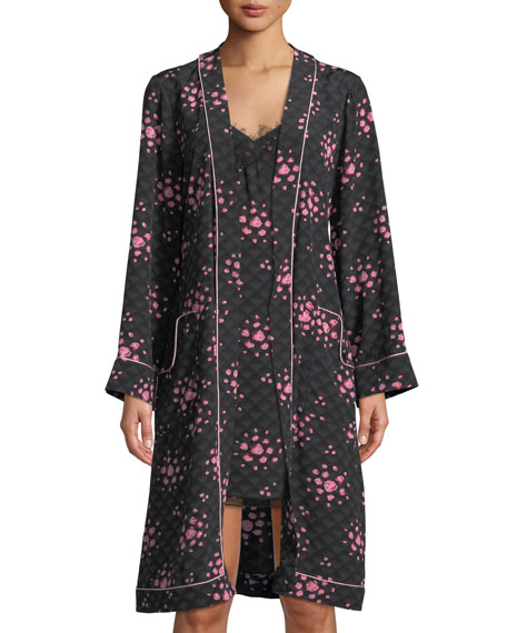 OPHELIA TEA ROSE SILK ROBE