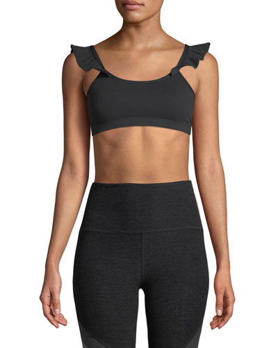 Frill Seeker Scoop-Neck Medium-Support Sports Bra