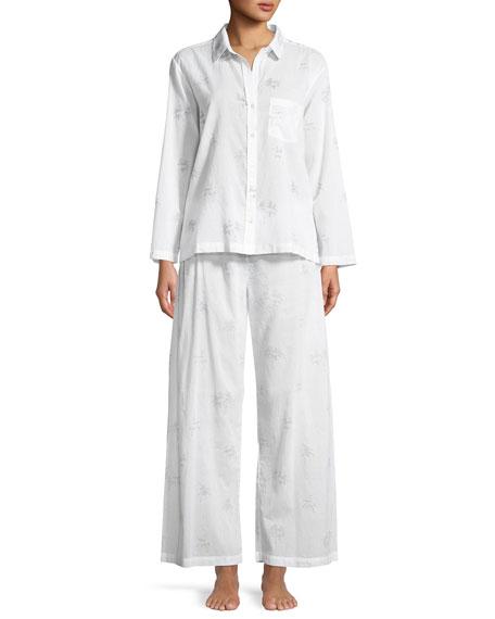6935fb1cd29 Pour Les Femmes Palms Cotton Pajama Set