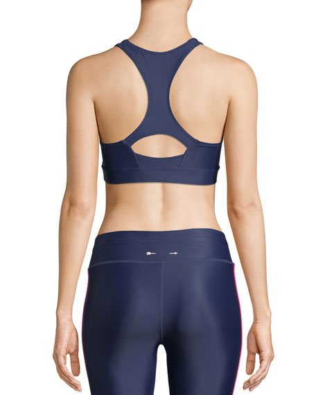 Anna Scoop-Neck Logo Performance Sports Bra