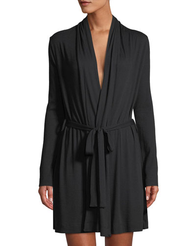 Short Jersey Wrap Robe