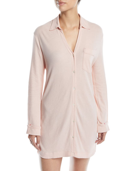 Skin APRIL BUTTON-FRONT SLEEPSHIRT