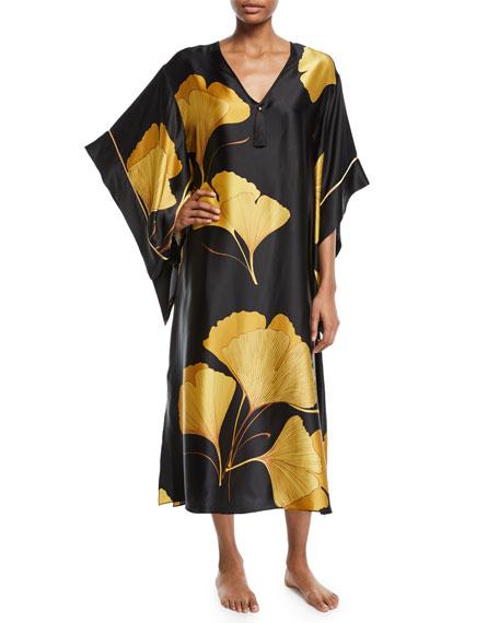 aba386f774 Ginkgo Butterfly Silk Caftan