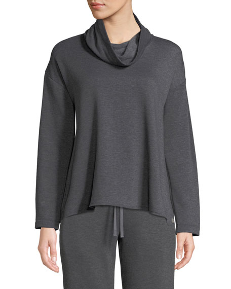Cocoon Cowl-Neck Lounge Top