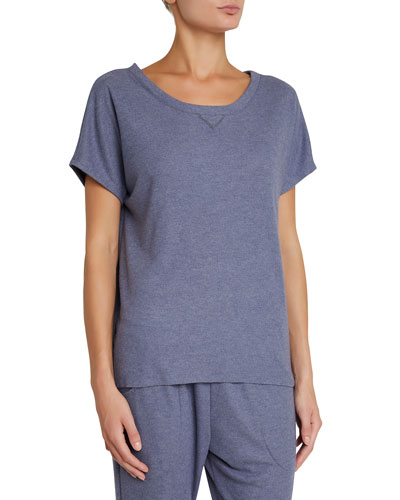 Mina Tranquil Short-Sleeve Lounge Top