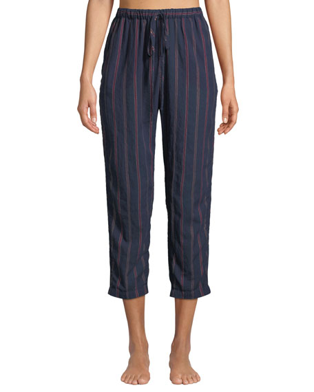 XIRENA KALVYN BECKETT STRIPED PAJAMA PANTS