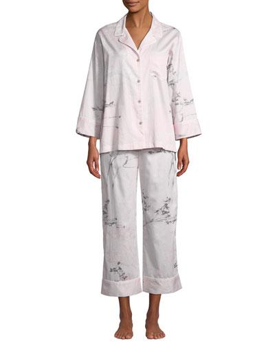 Hakone Floral-Print Classic Pajama Set