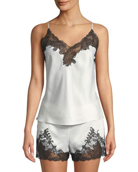 Plume Lace-Trim Camisole Short Pajama Set