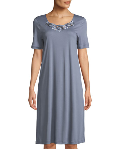 Jana Lace-Trim Short Nightgown