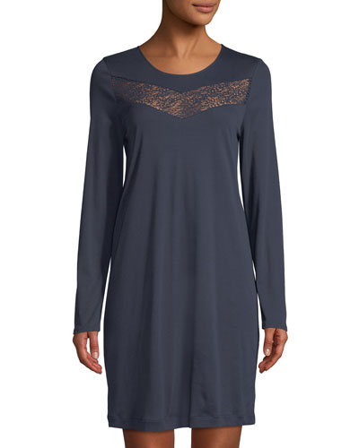 Liv Long-Sleeve Short Nightgown