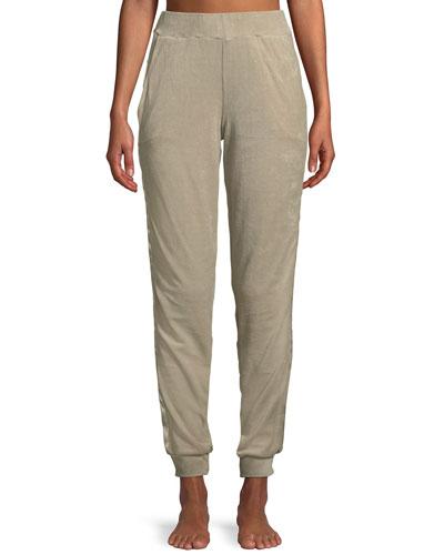 Favorites Long Velvet Jogger Lounge Pants