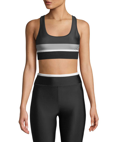 The Altitude Striped Racerback Sports Bra