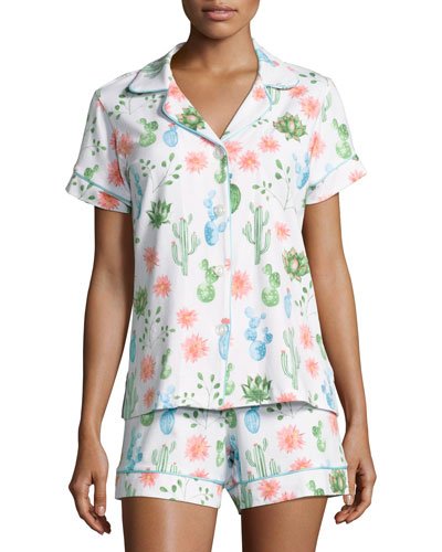 Marfa-Print Shorty Pajama Set