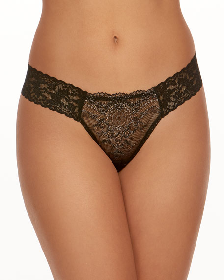 Hanky Panky Diamond Low-Rise Lace Thong