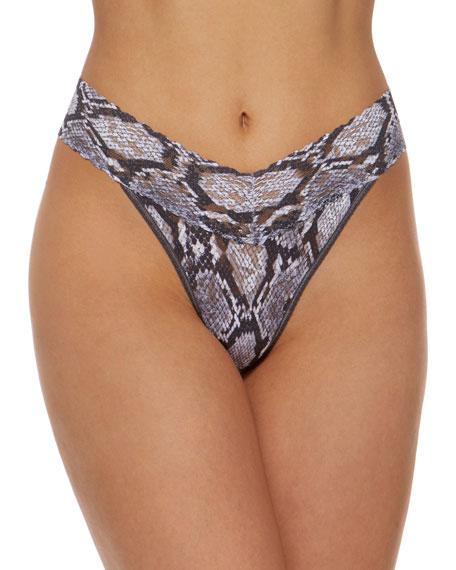 Python Original Rise Signature Lace Thong