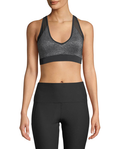 Cliff Metallic Mesh Sports Bra
