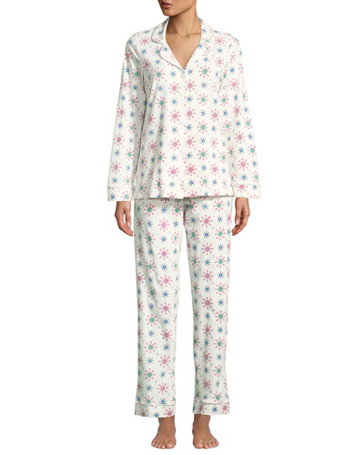 Men's Holiday Snowflake Classic Pajama Set