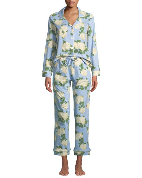 Hydrangea Classic Pajama Set, Plus Size in Multi Pattern