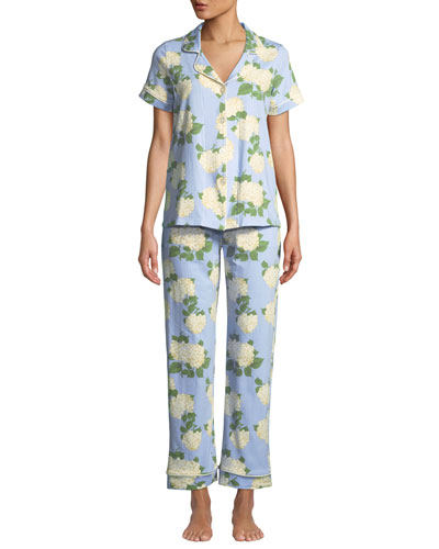 Hydrangea Short-Sleeve Pajama Set