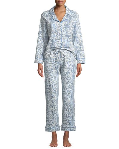 Cheetah Classic Pajama Set, Plus Size