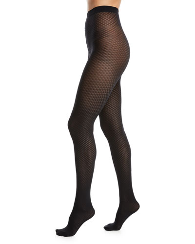 Tess Jacquard-Pattern Tights