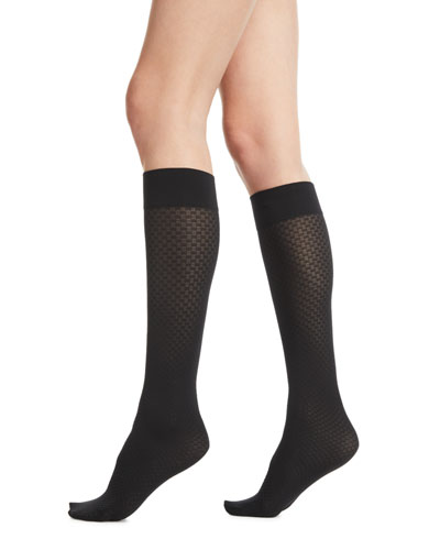 Tess Jacquard Knee-High Socks