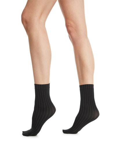 Muriel Pinstriped Ankle Socks