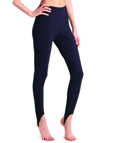 Bonded Jersey Smoothing Stirrup Leggings
