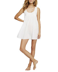 Sleeveless Pintuck Short Nightgown by Pour Les Femmes