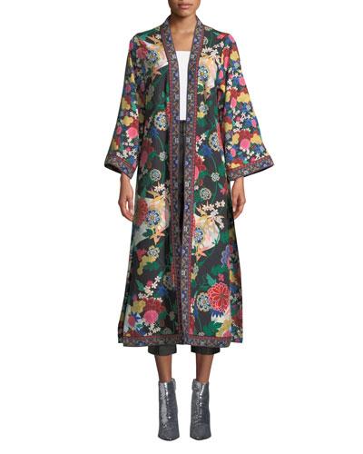 Lynn Side-Slit Long Kimono