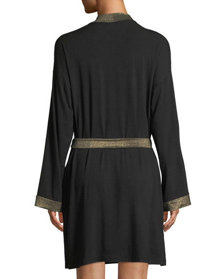 Becca Robe with Lurex Trim