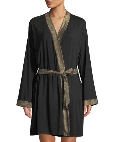 Becca Robe with Lurex Trim