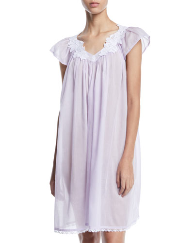 Nirwana Cap-Sleeve Babydoll Nightgown