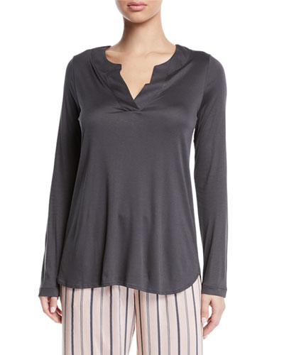 Malie Long-Sleeve Lounge Shirt