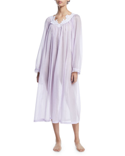 Nirwana Long-Sleeve Cotton Nightgown