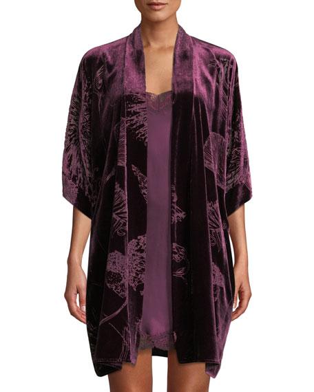 Christine Lingerie Faberge Floral Velvet Short Robe